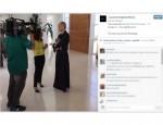 Apresentadora junto com a repórter Adriana Araújo (Reprodução/Instagram)