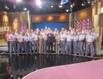 Alunos do curso de comunicação social da Polícia Militar visitam bastidores do Programa do Porchat