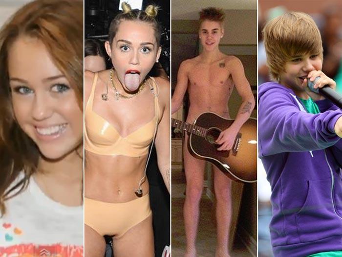 Eles Cresceram Confira As Pol Micas De Miley Cyrus E Justin Bieber